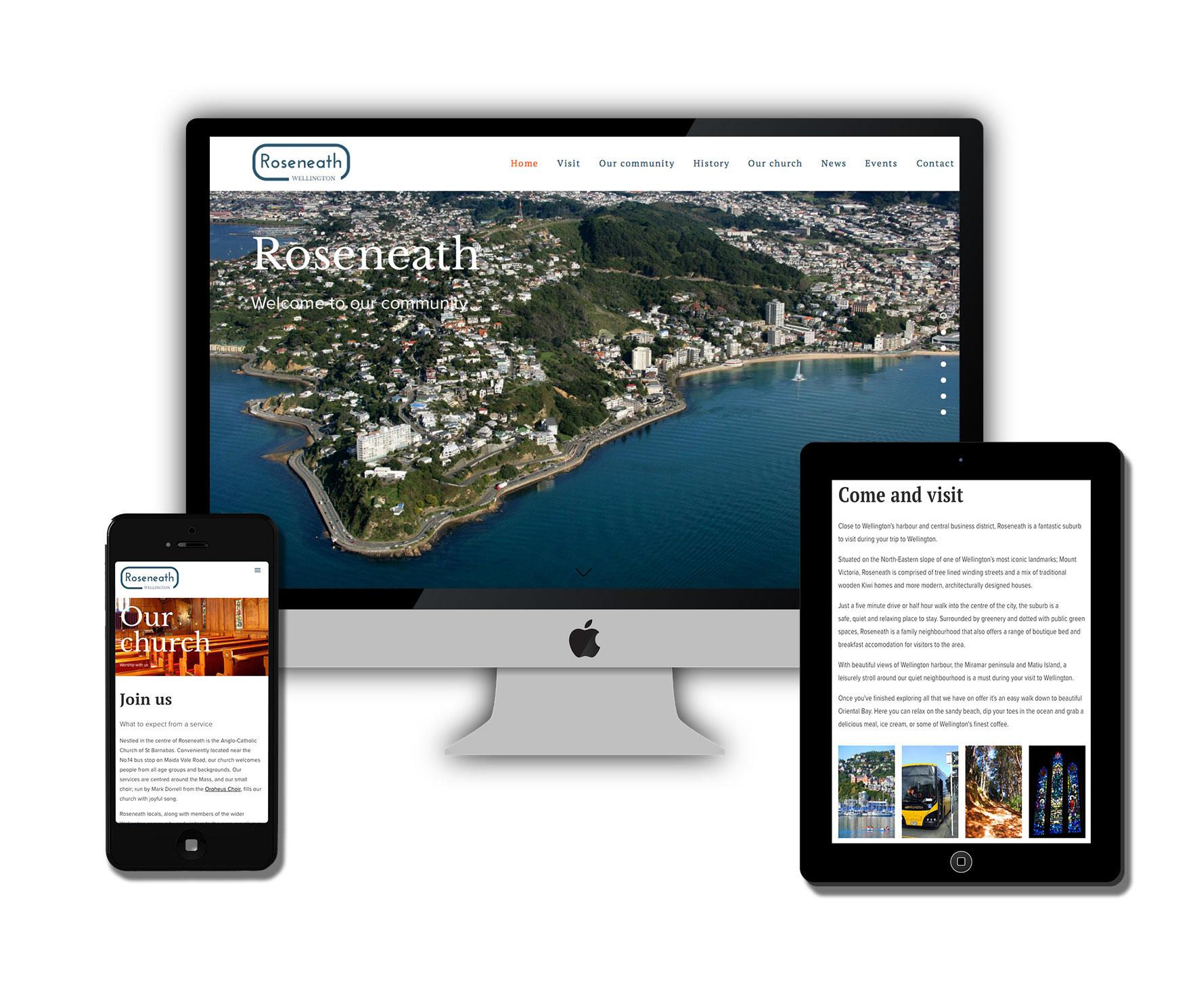 Roseneath Community non for profit website