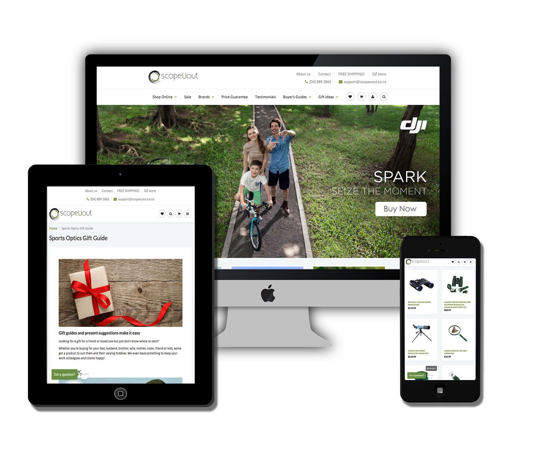 ScopeUout online store, built by Made by Markham web design