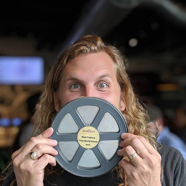 Thanks @windycityfest Best Feature!!! Gah!!!! 🎉🎉🎉 . . . . . #thisworldalone #thisworldalonefilm #indiefilm #featurefilm #filmmaking #filmmakers #supportindiefilm #independentfilm #atlantafilm #windycityfilmfest
