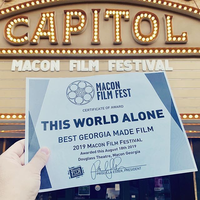 Thanks @maconfilmfestival ! We had a blast and saw so many great films and met so many great people and we are so thrilled to represent the indie film scene in Georgia! . . . . #thisworldalone #thisworldalonefilm #indiefilm #featurefilm #filmmaking #filmmakers #supportindiefilm #independentfilm #atlantafilm #georgiafilm