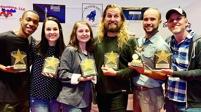 Last night was bonkerballs, y'all! @thisworldalonefilm brought home six awards!  Best Cinematography (@solyncinematography ) Best Supporting Actress (@sophieekstrom ) Best Lead Actress (@baaaadams ) Best Screenplay (@hudsonphillips ) Best Director (@noelcommajordan ) ....and Best of Fest!  Giant thanks to @hollywoodsouthfilmfest - we had a blast!