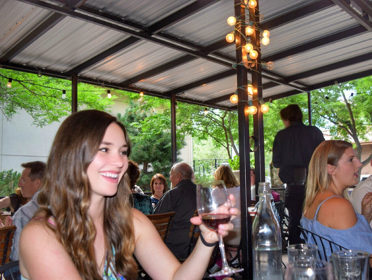 Free wine for Ladies' night on the patio!