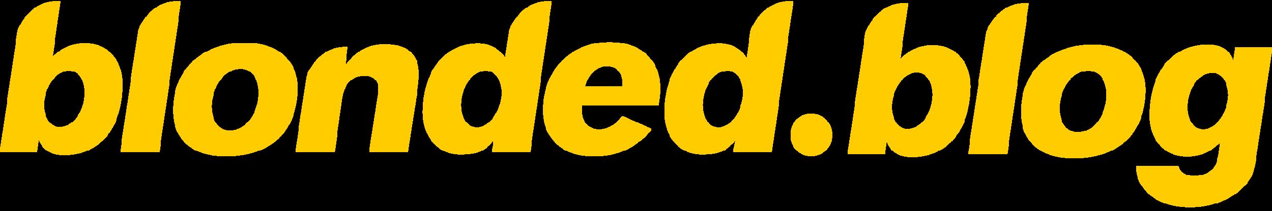 blonded blog logo