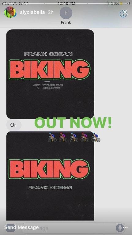 biking alycia bellamy frank ocean
