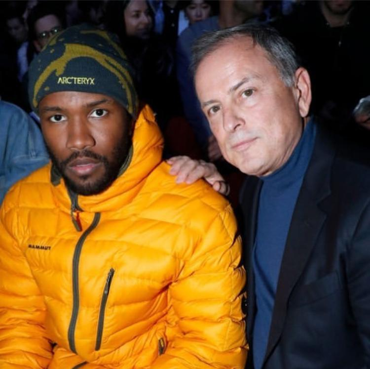 Frank Ocean with Louis Vuitton CEO Michael Burke