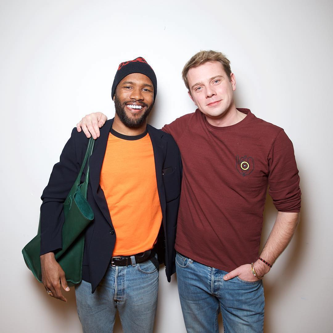 Frank with Jonathan Anderson
