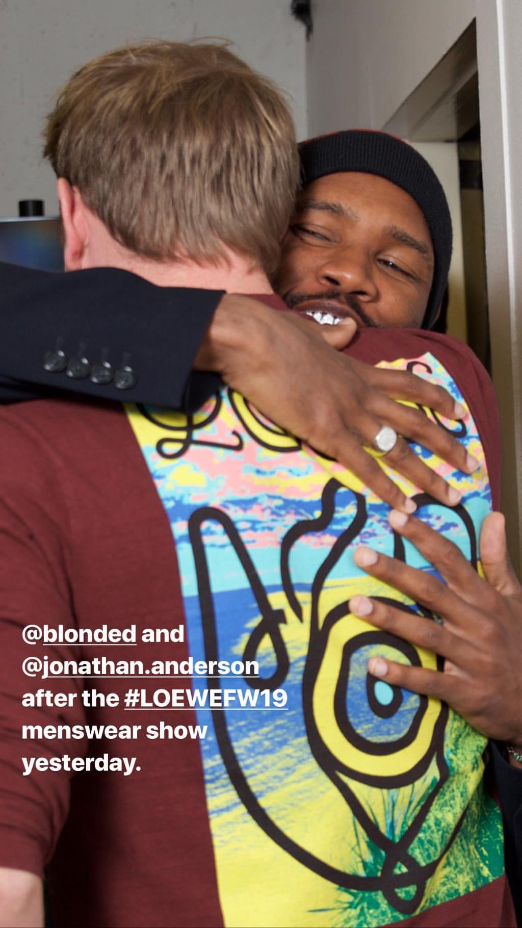 Hugging Jonathan Anderson