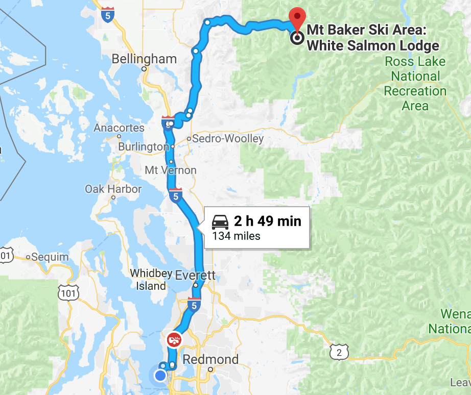 The drive from Seattle