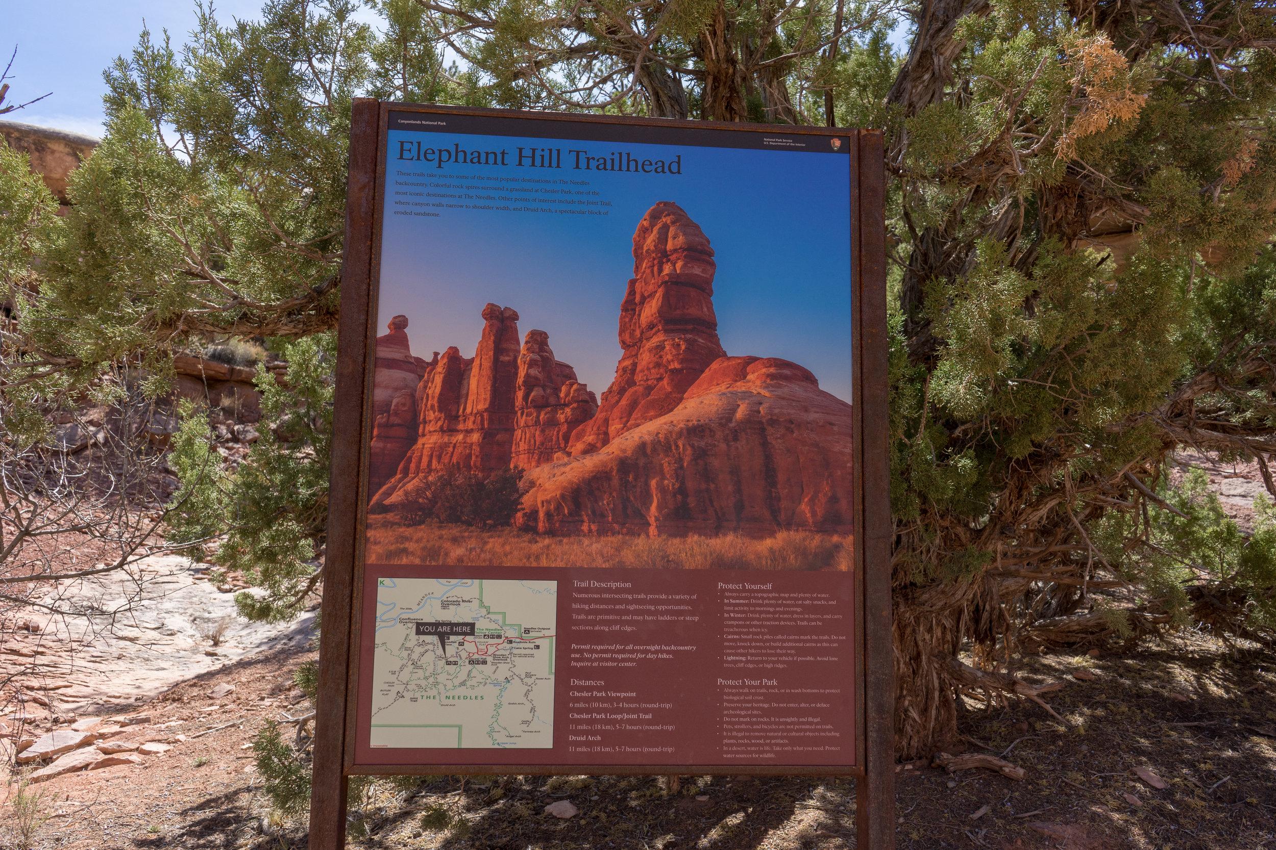 Elephant Hill Trailhead
