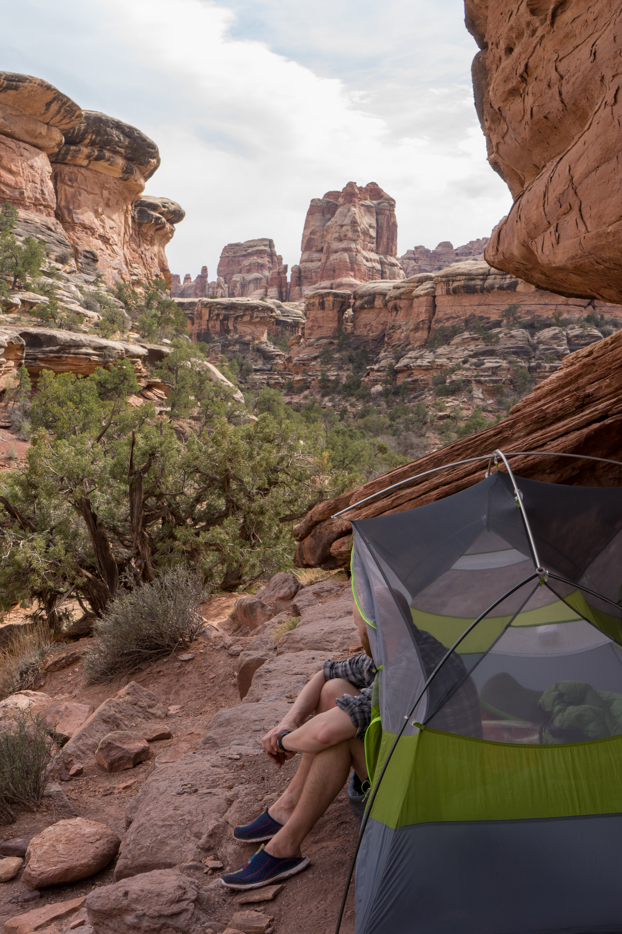 Campsite within the canyon