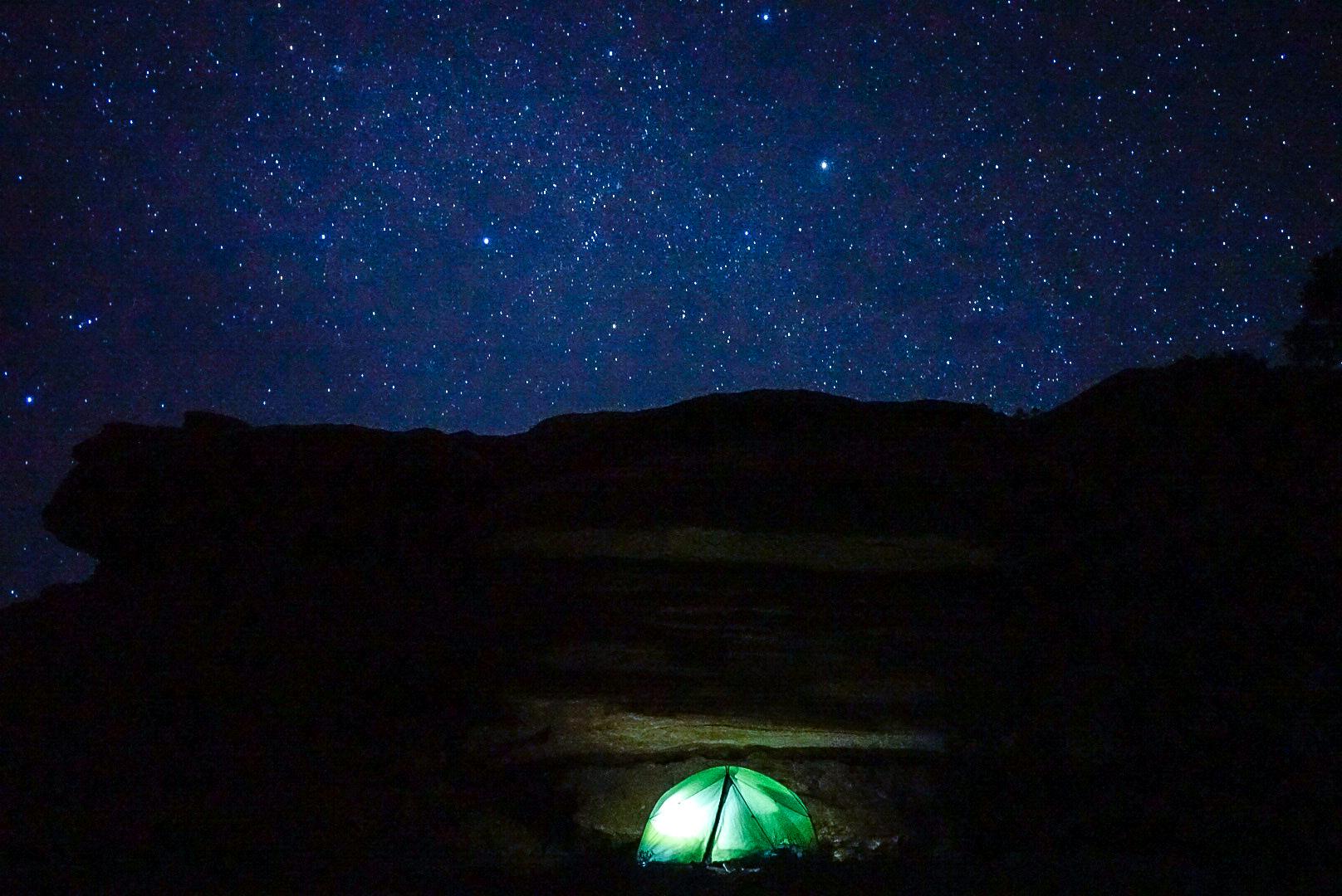 Stary desert night sky