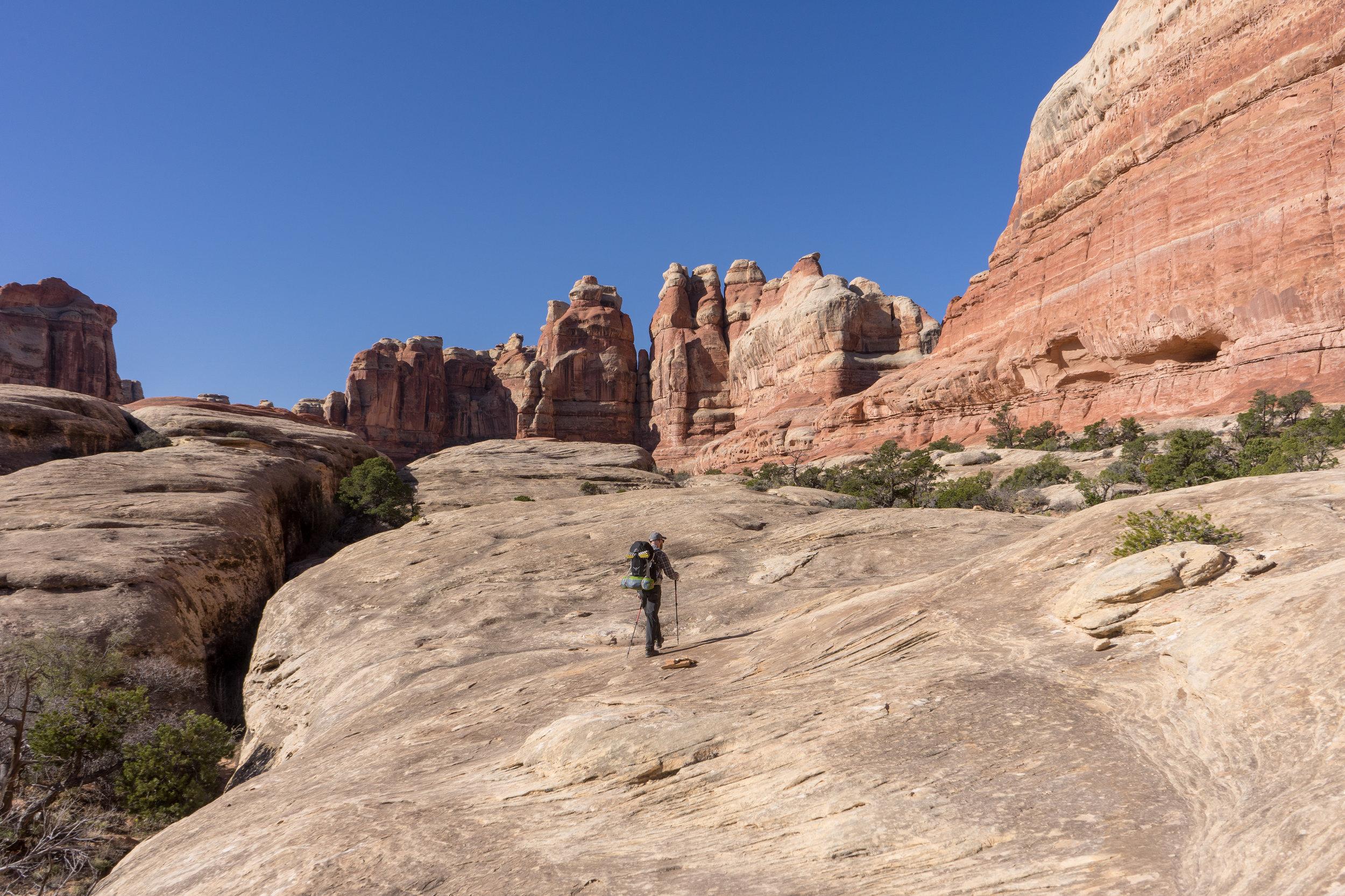 Hiking through canyons