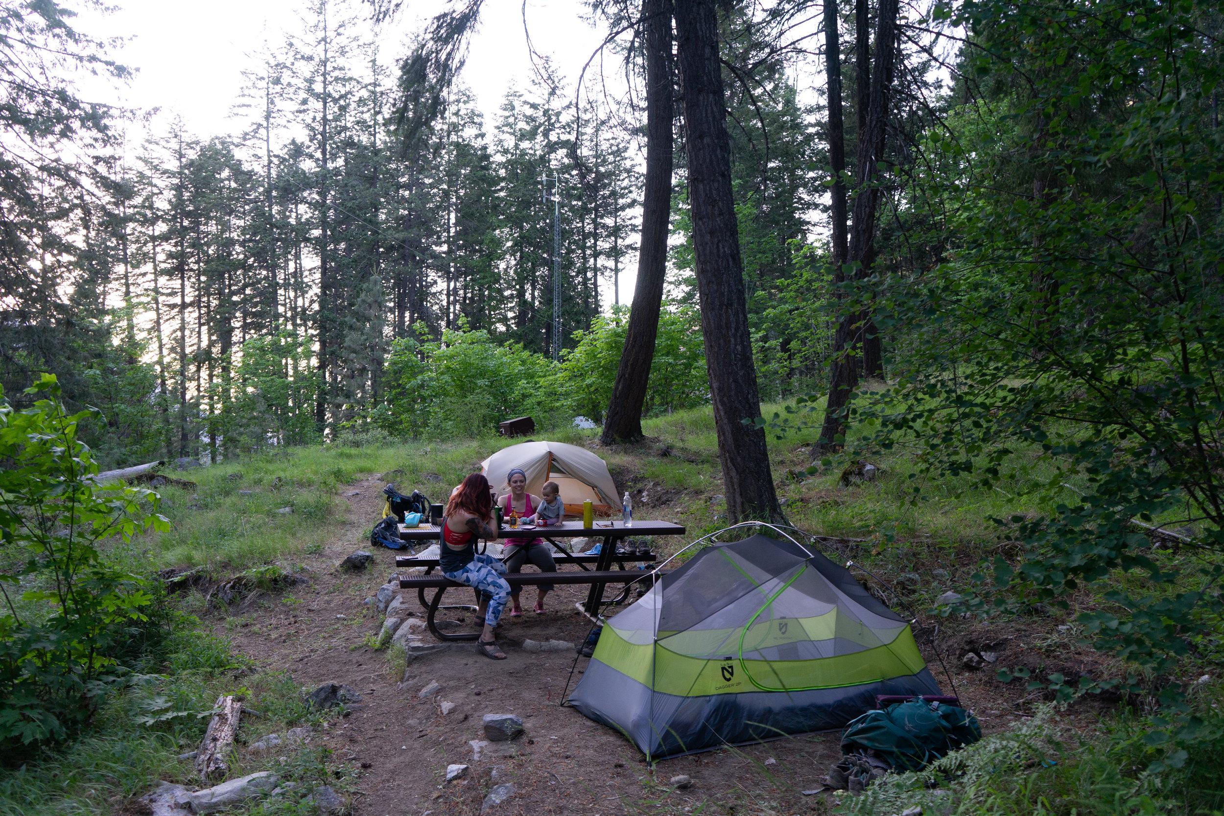 Campsite in Stehekin
