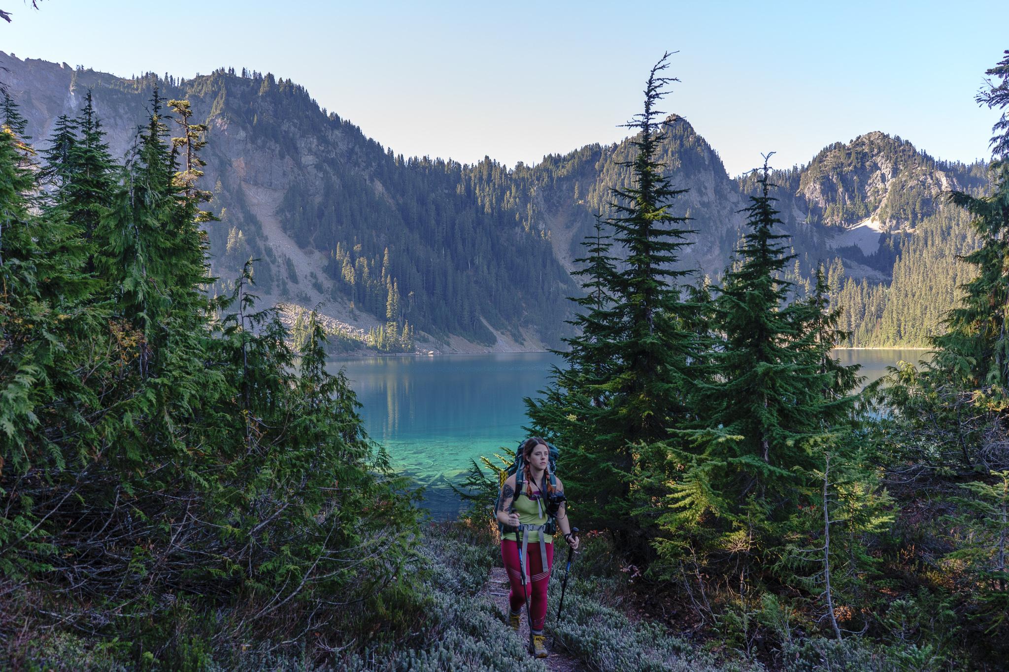 Kaelee and Marmot Lake