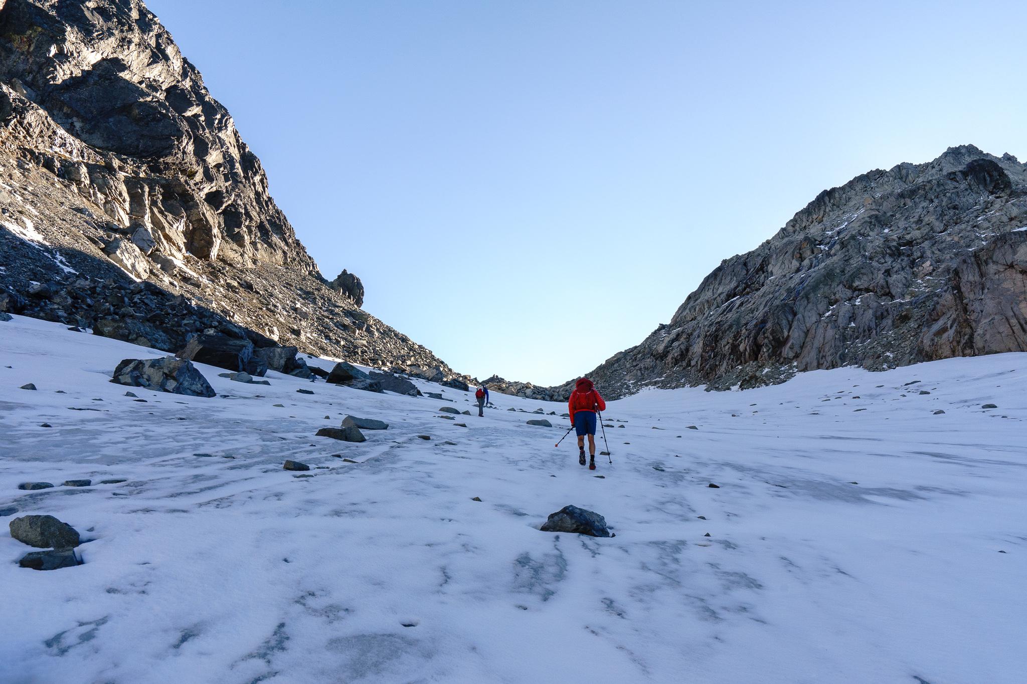 Snowfield up Dip Top Gap