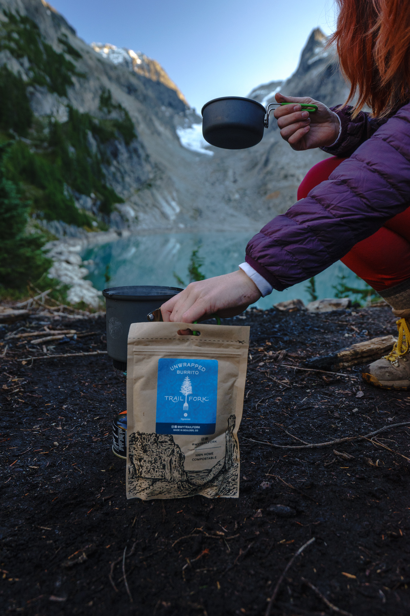 Trailfork backpacking meals. So good. I really liked the Unwrapped Burrito!