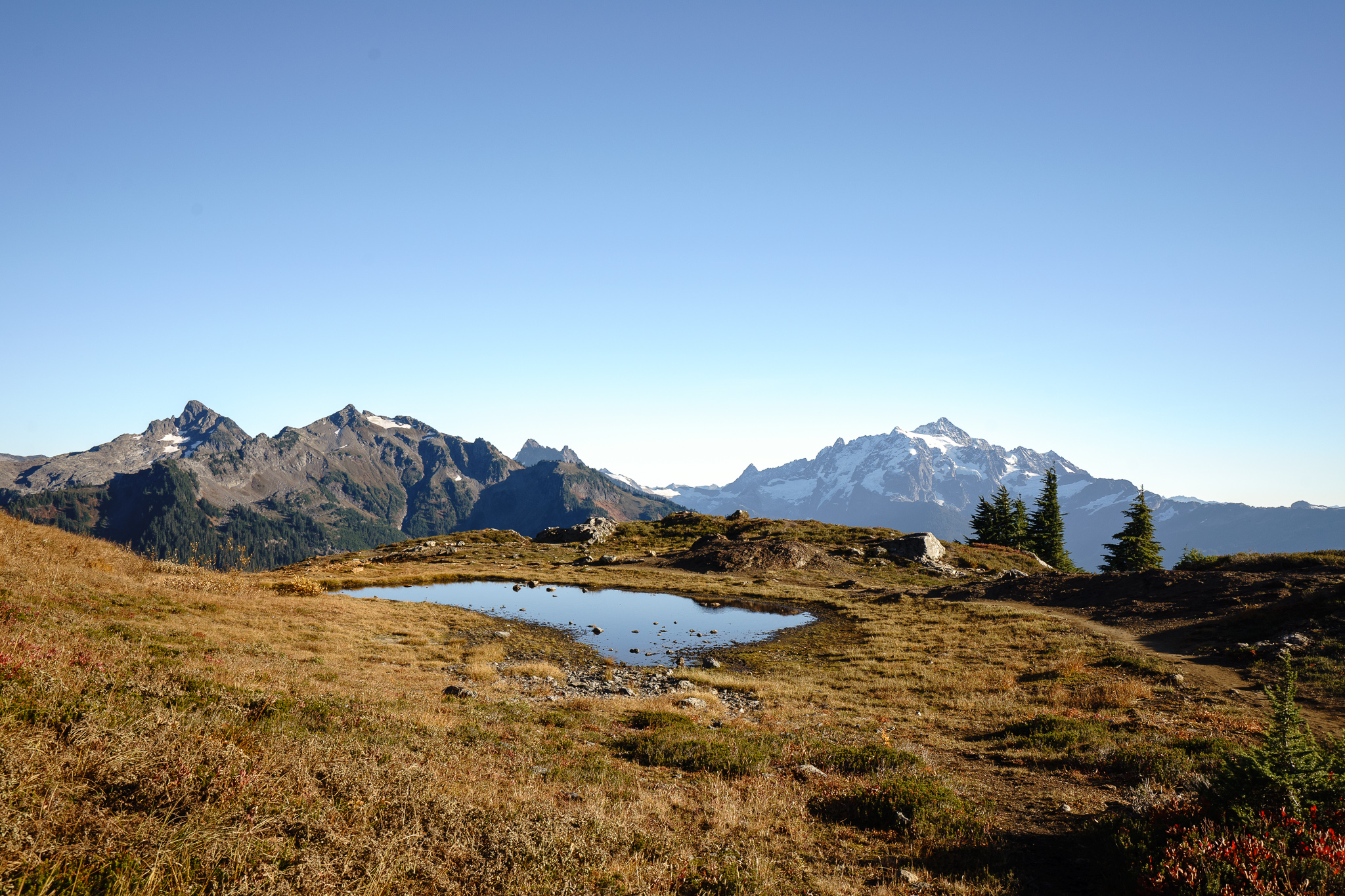 The magical Mt. Shuksan and a pretty little tarn