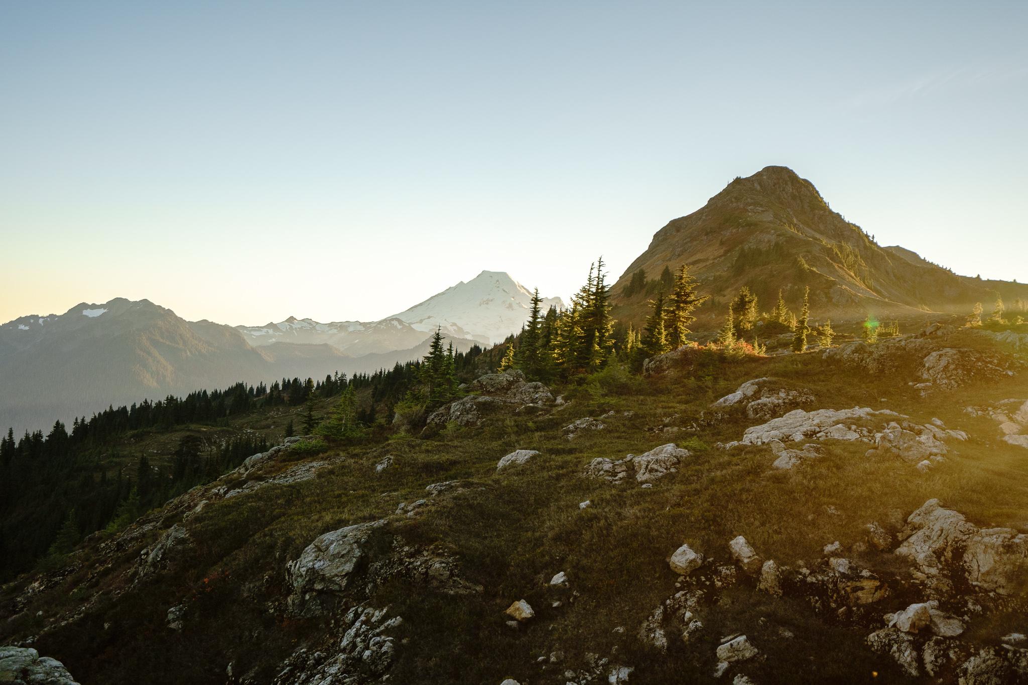 Golden hour + Mt. Baker