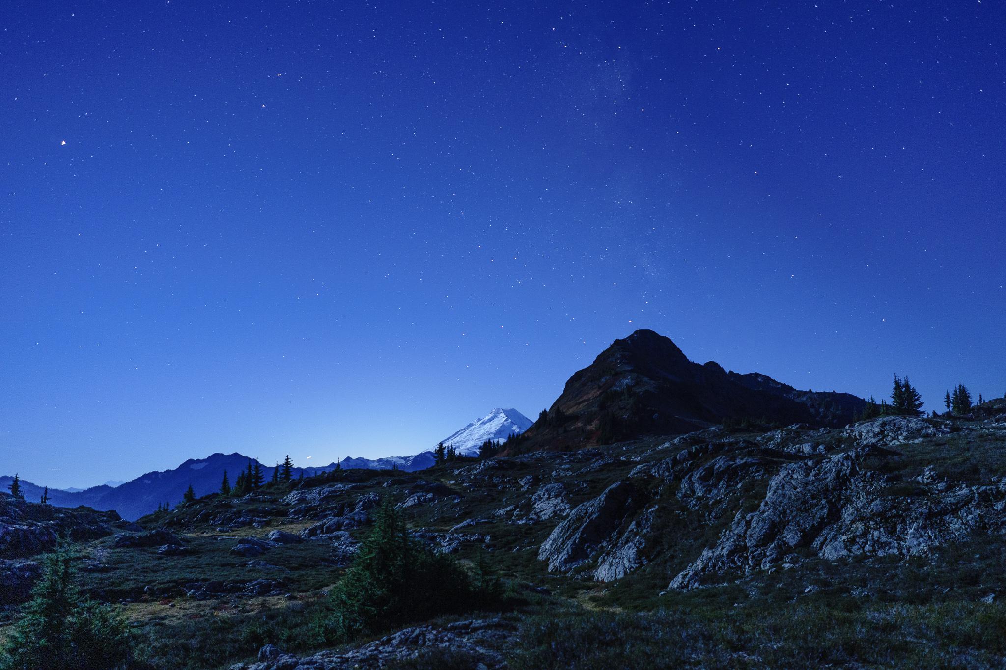 Mt. Baker + Milky way