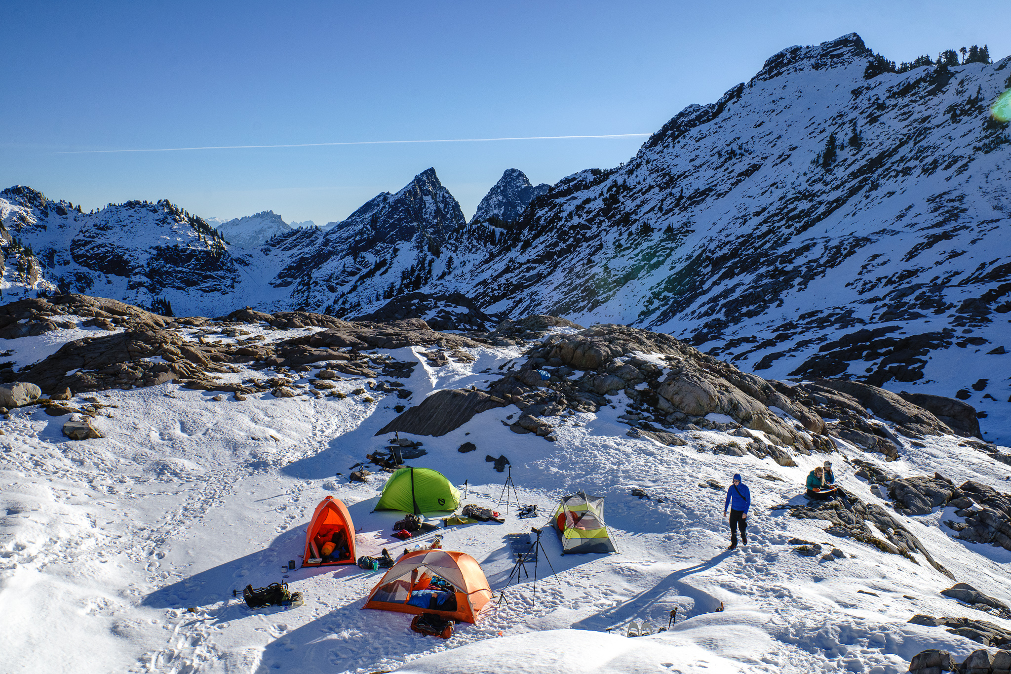 Little snowy camp village