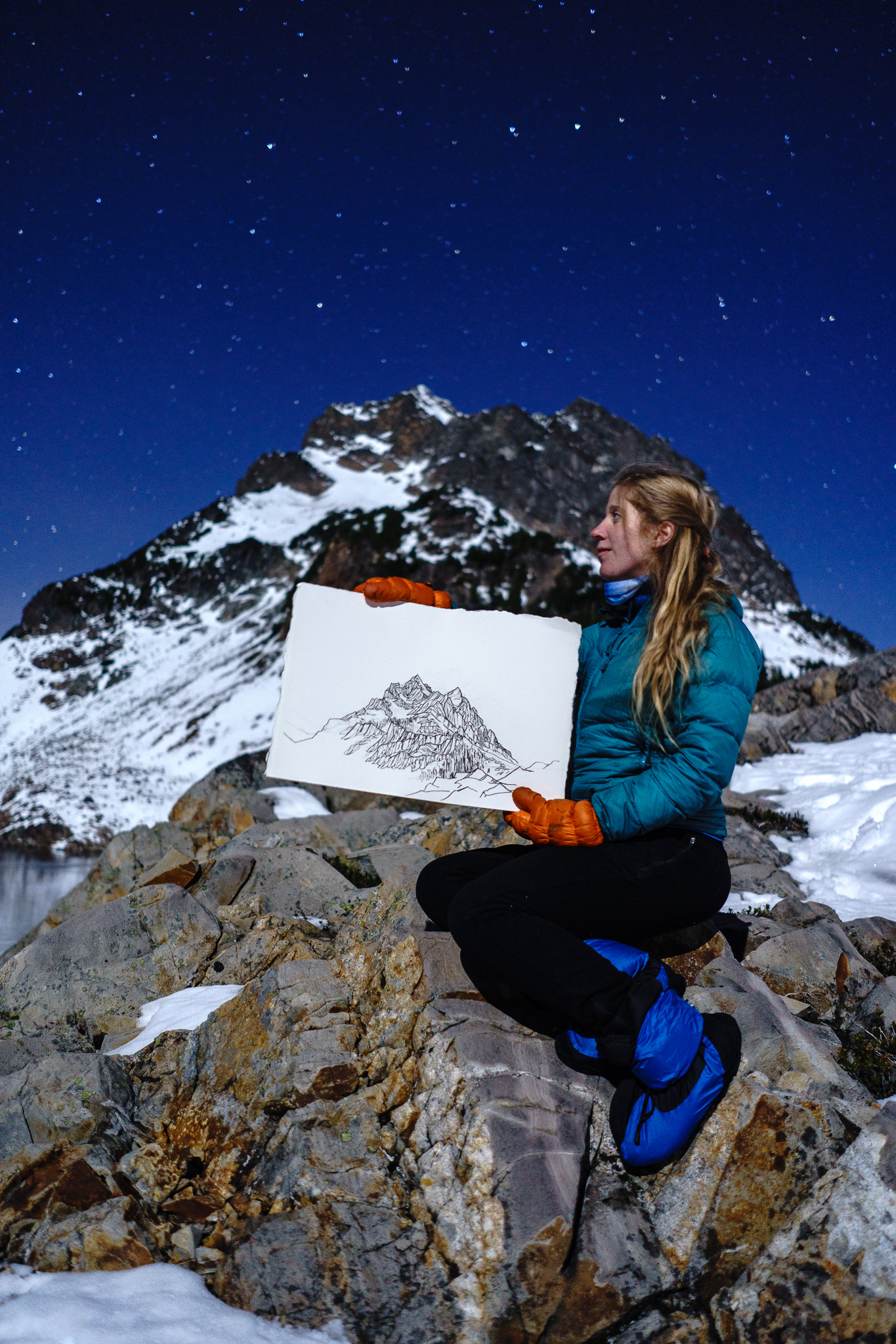 Drawn to High Places + her drawing of Del Campo