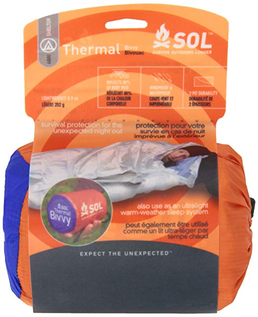 I carry this SOL Thermal Bivvy on all day hikes
