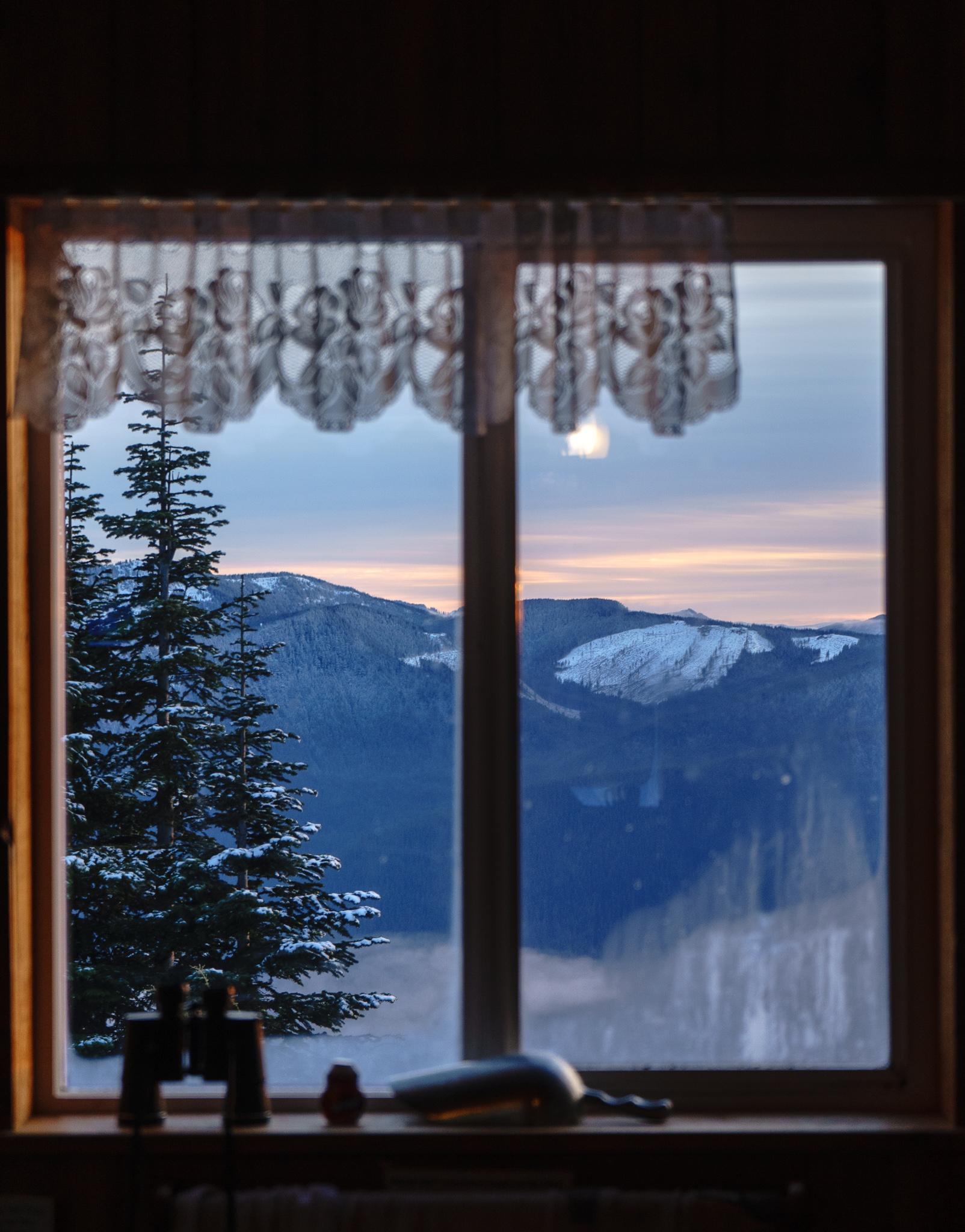 Mountain views out the kitchen window