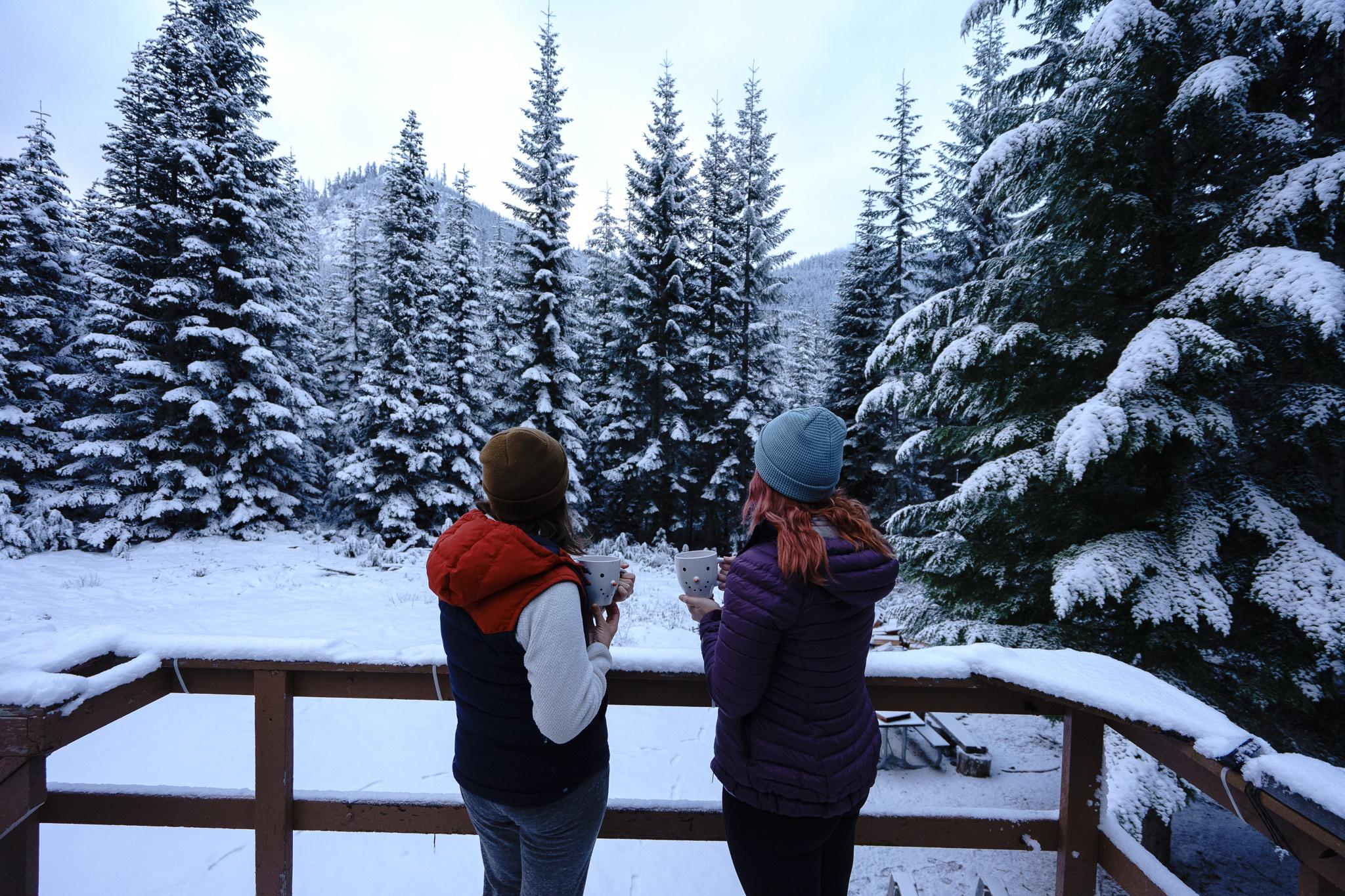 Fresh snow + peppermint mocha's