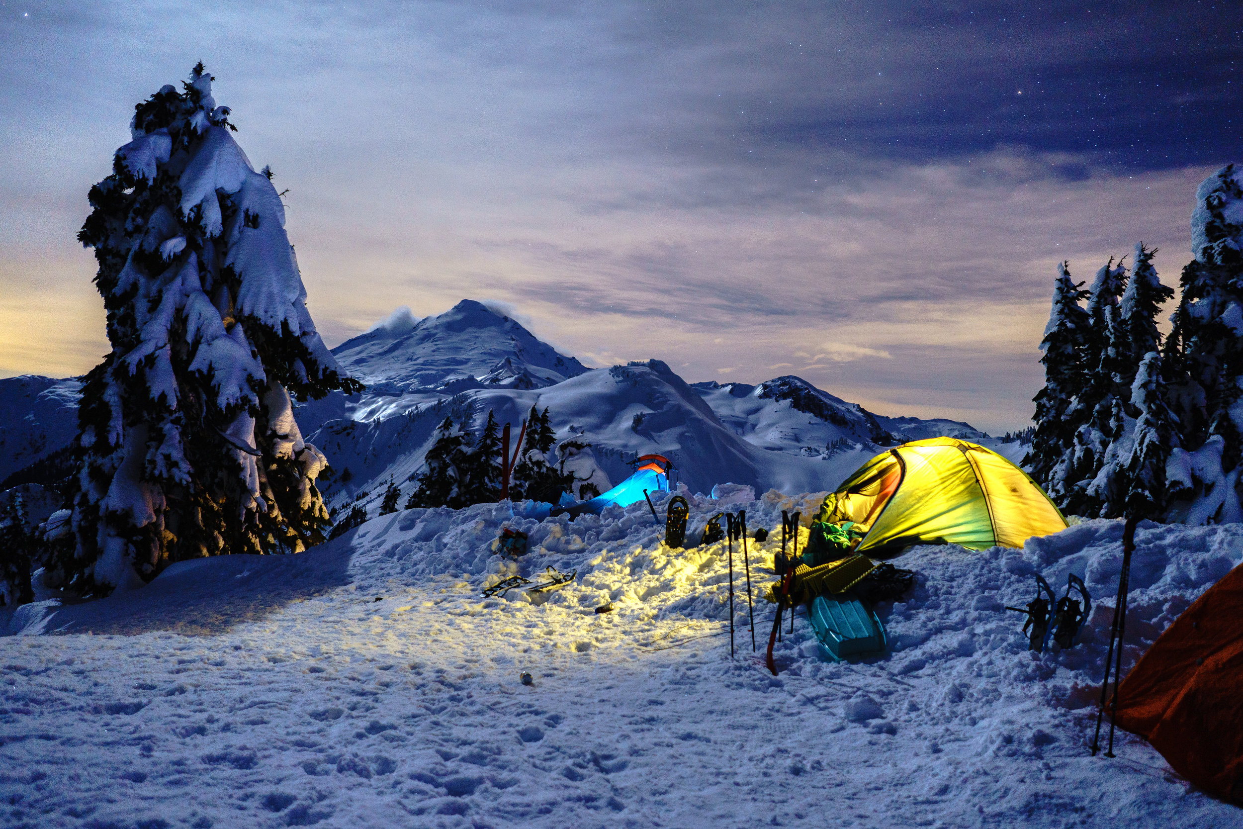 Mt. Baker and tent city