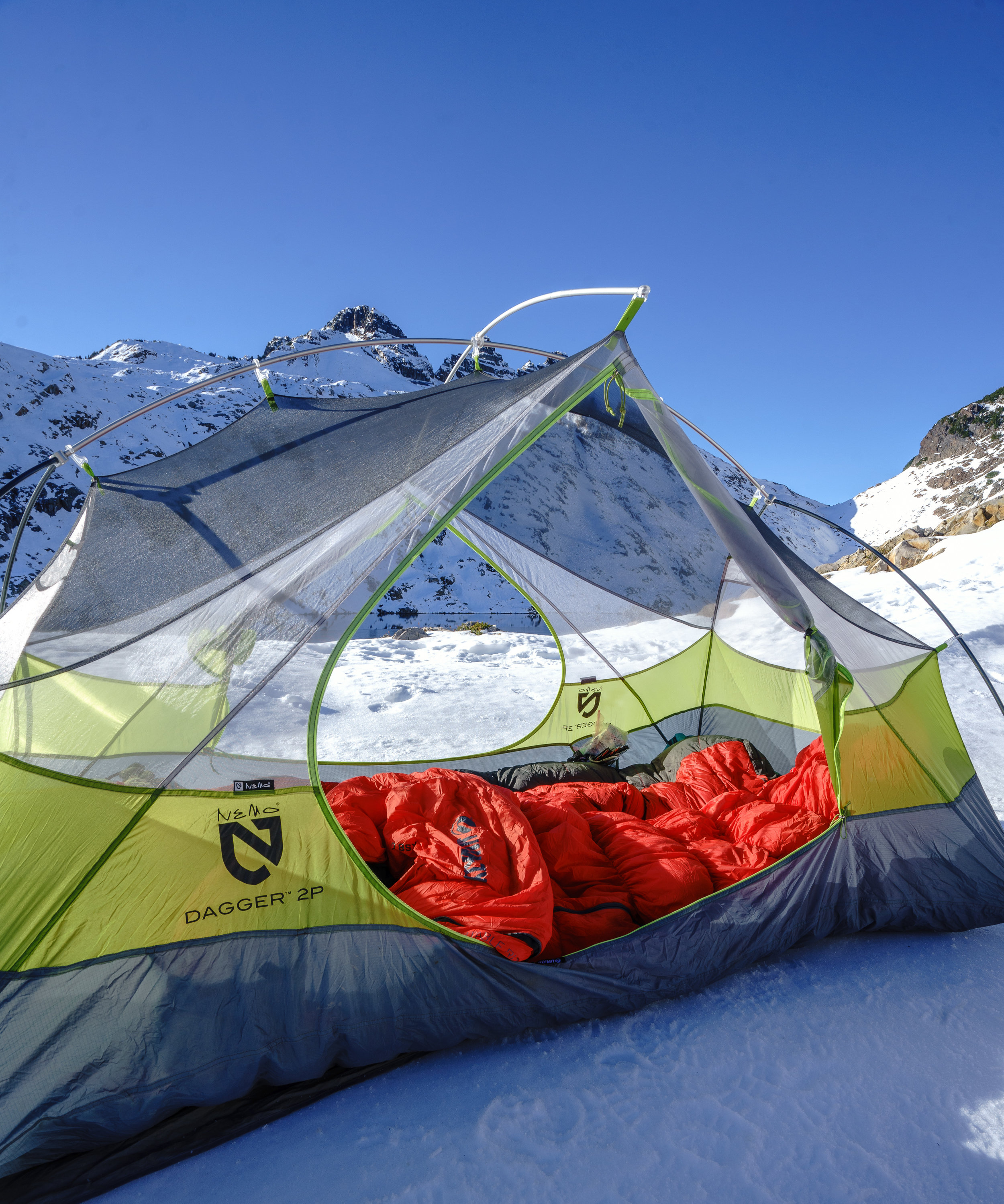 This is the Nemo Dagger 2P and has done fine for snow camping.