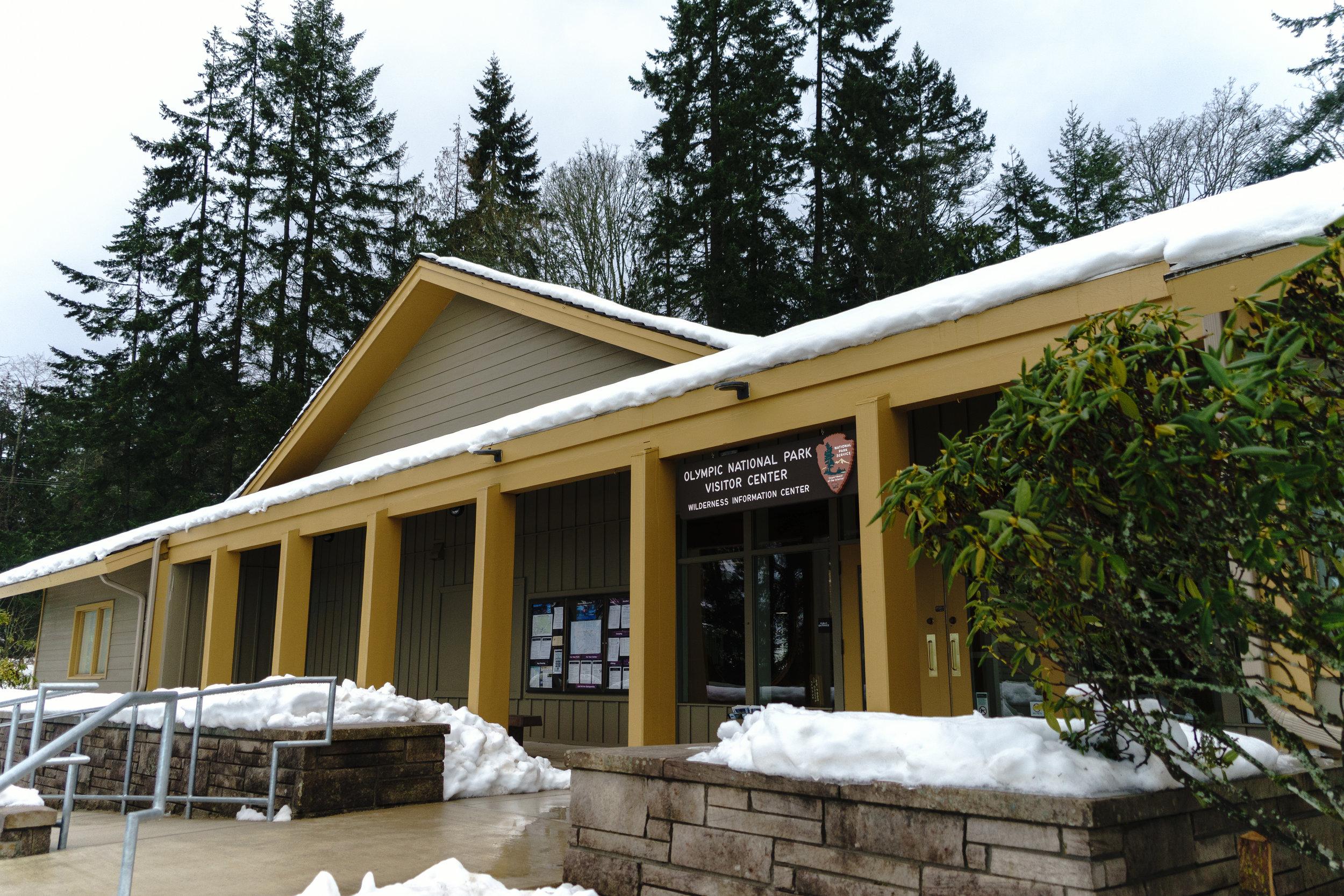 Snowy ranger station