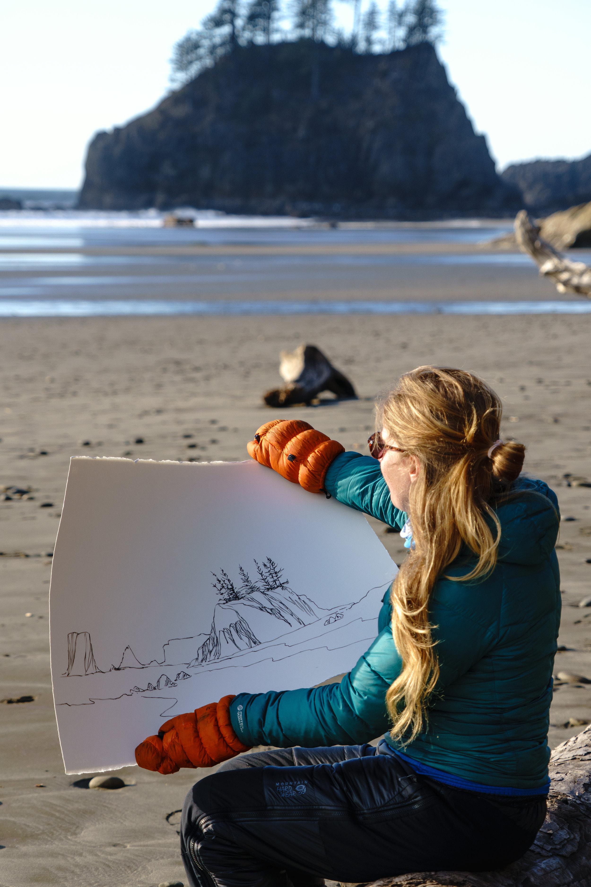 Nikki painting