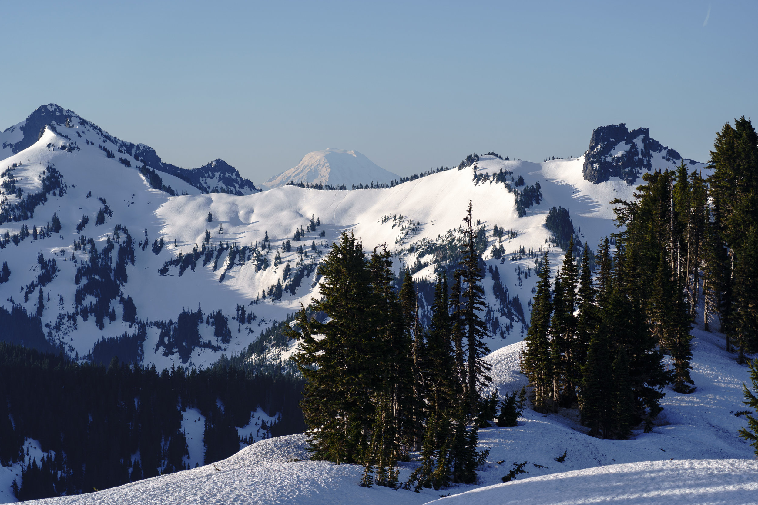 Mt. Adam's peaking out over the Tatoosh