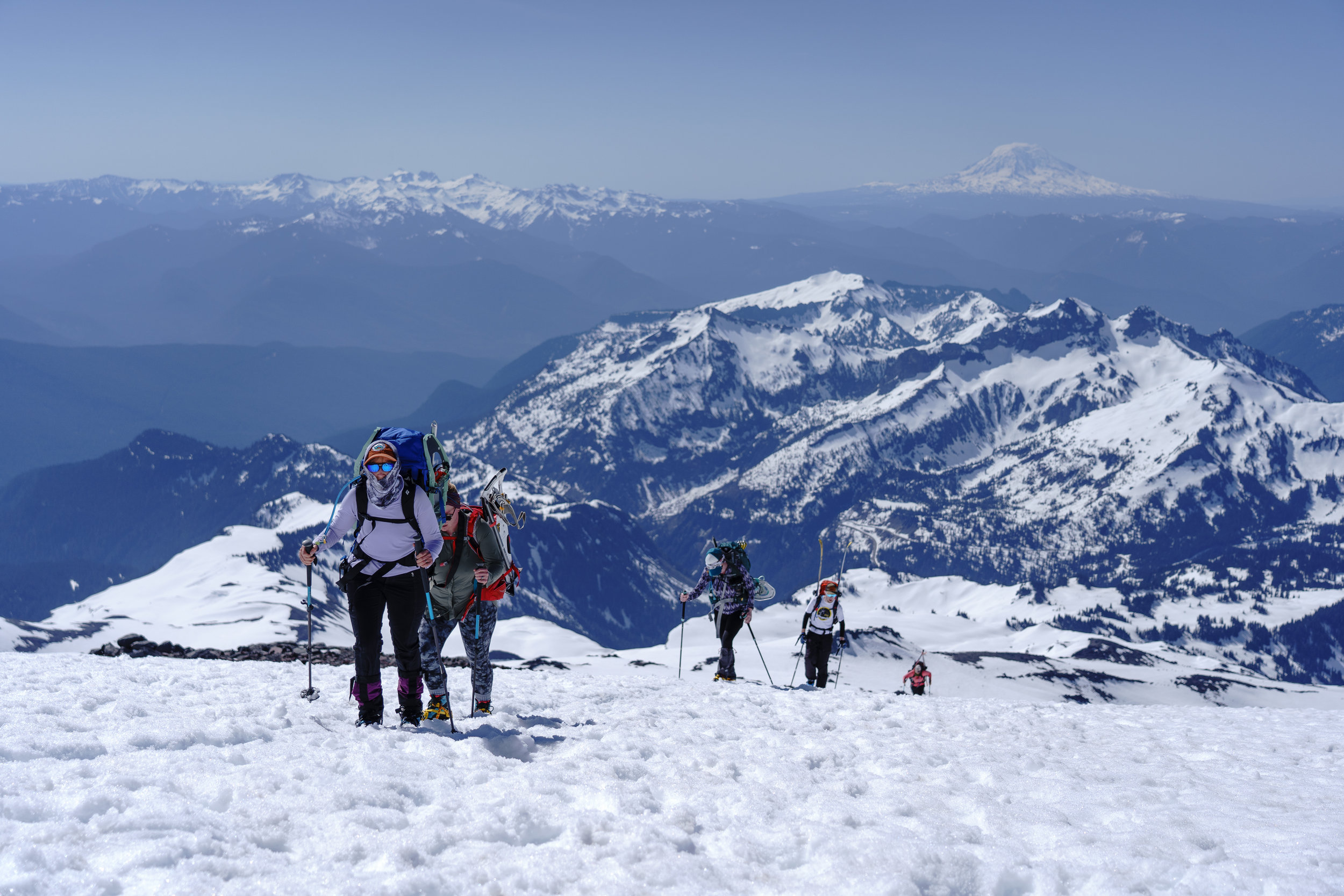 The never ending up that is the Muir snow field