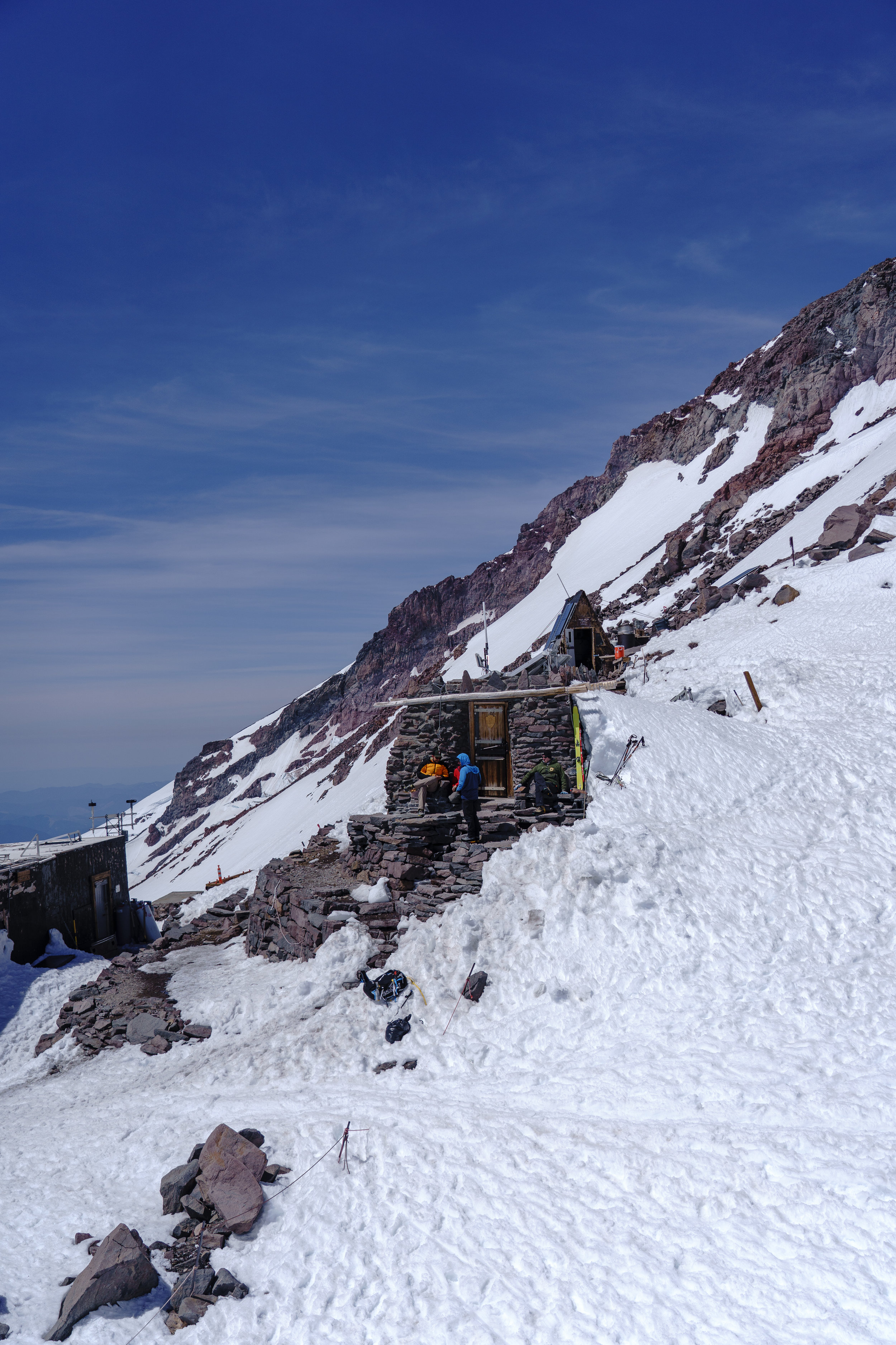 Camp Muir Huts for rangers + climbers