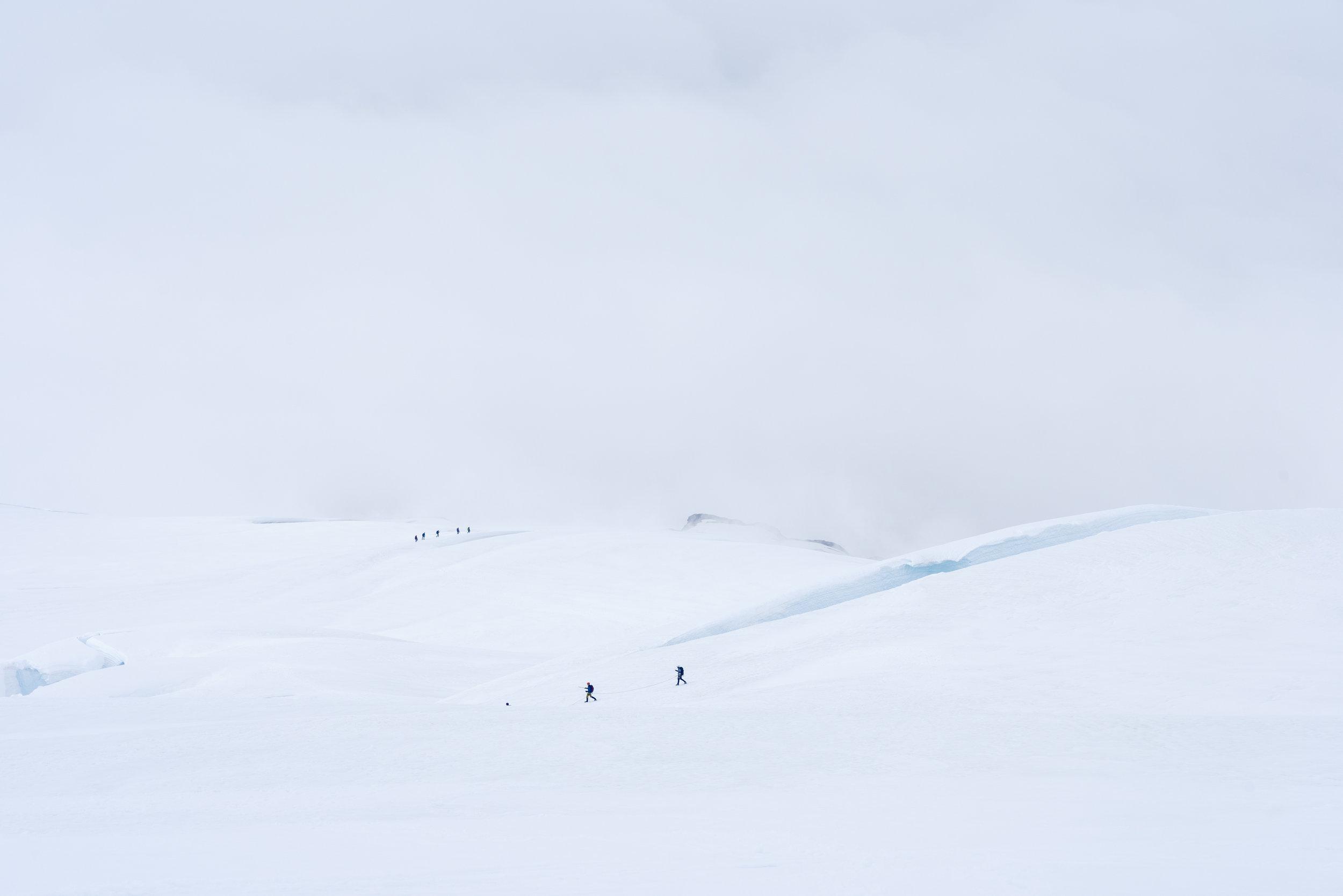 Wild open landscape of a glacier