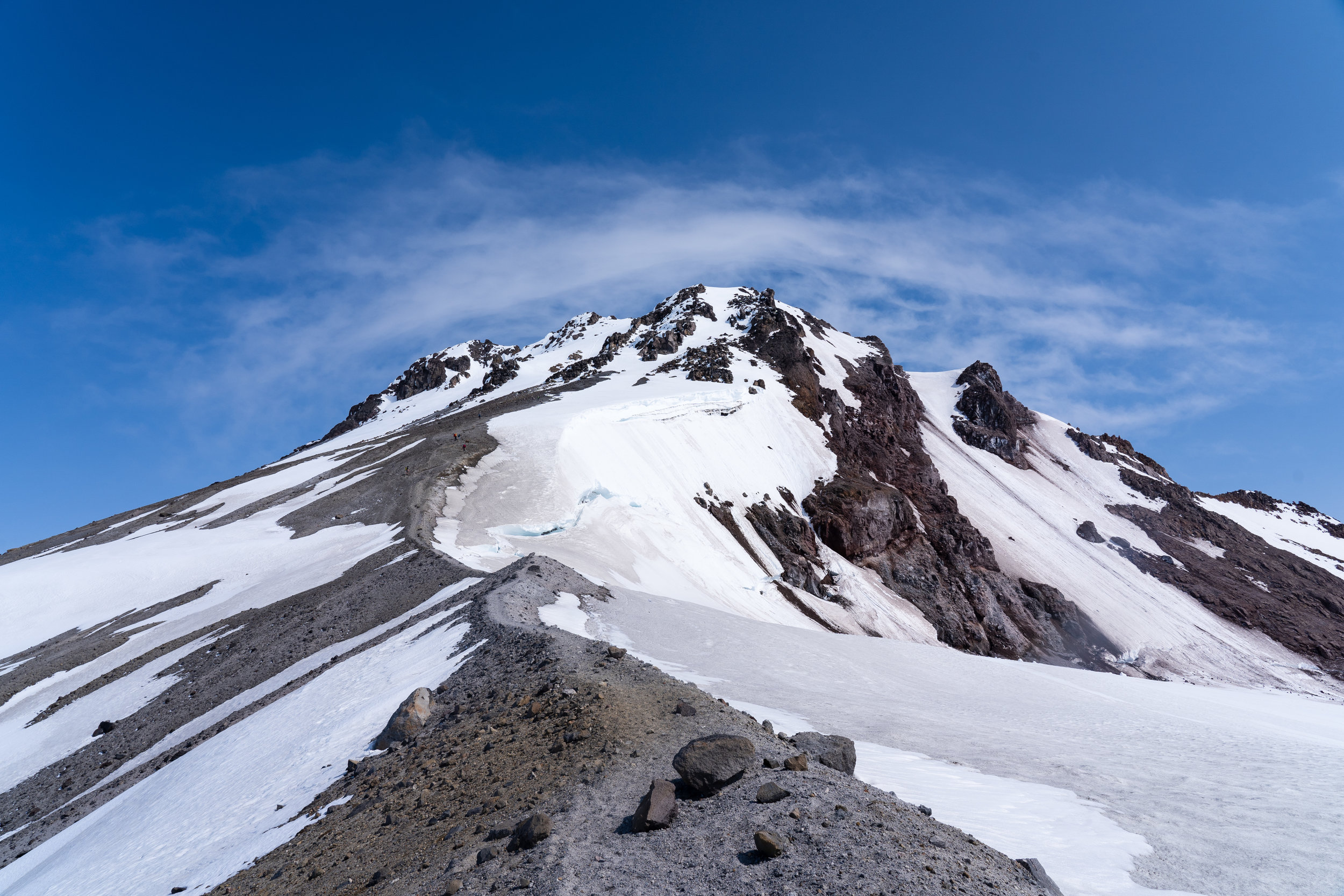 Rock/ pumice ridge ahead