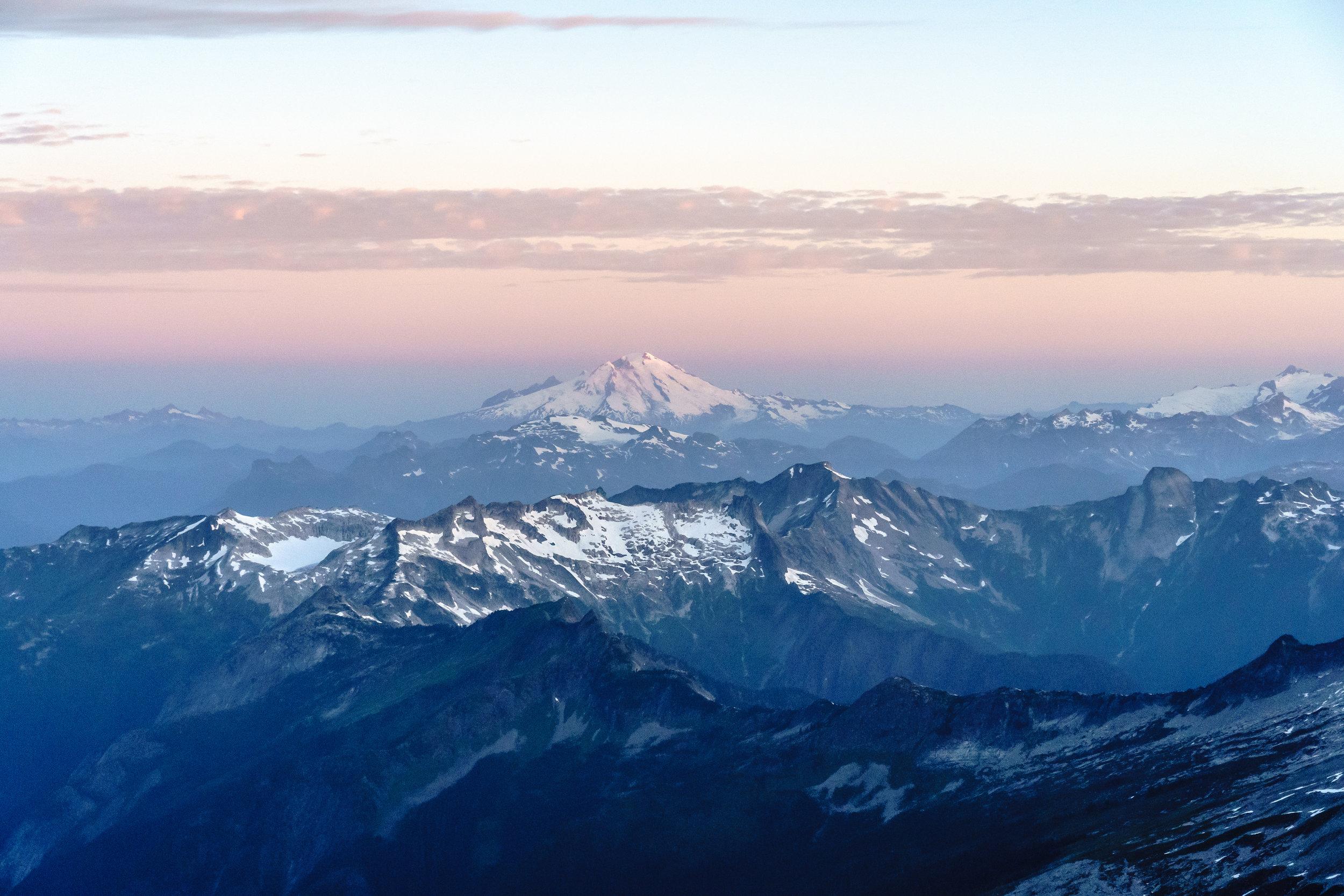 Mt. Baker alpenglow