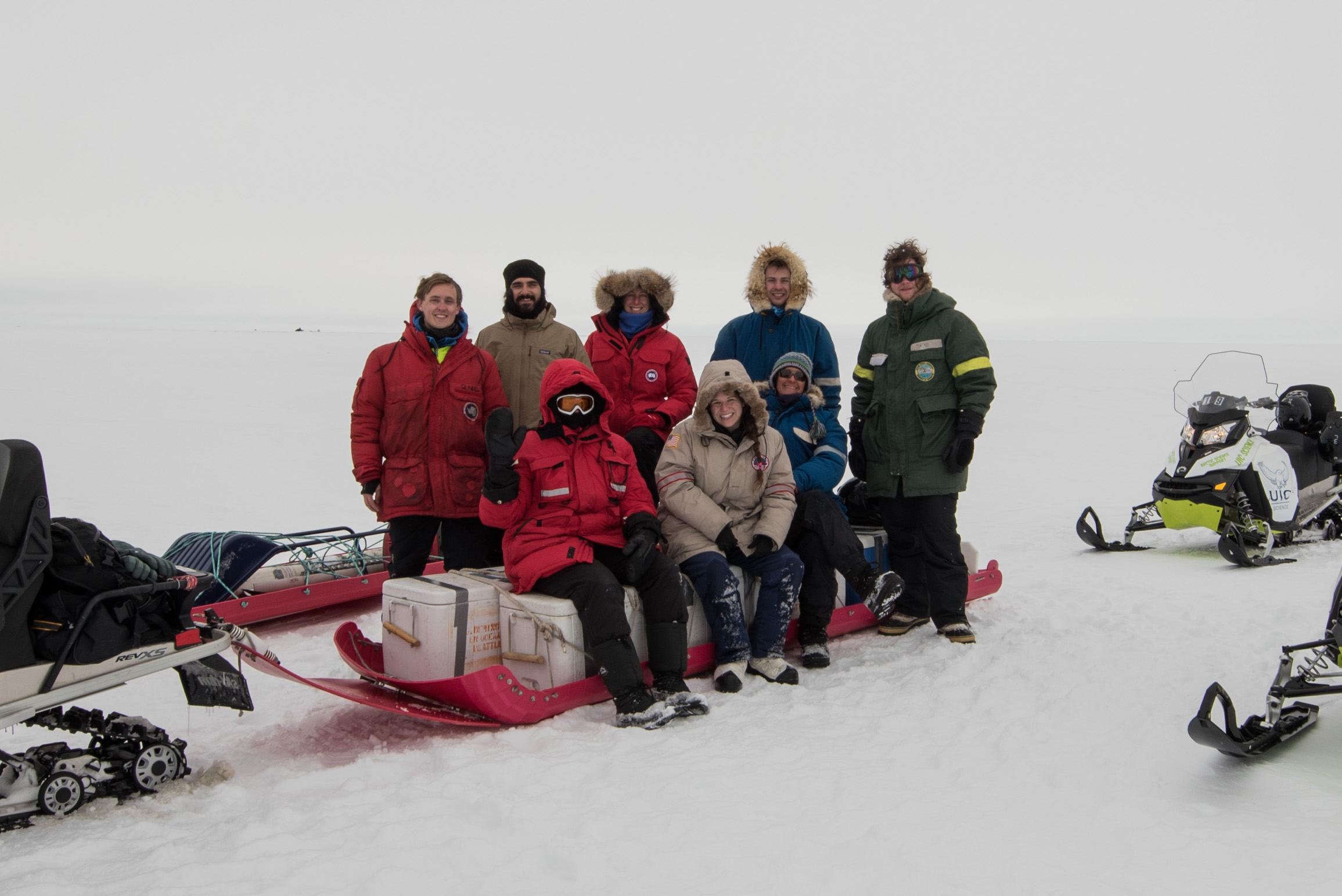 Our first field trip to Arctic sea ice! Photo credit A. Torstensson.