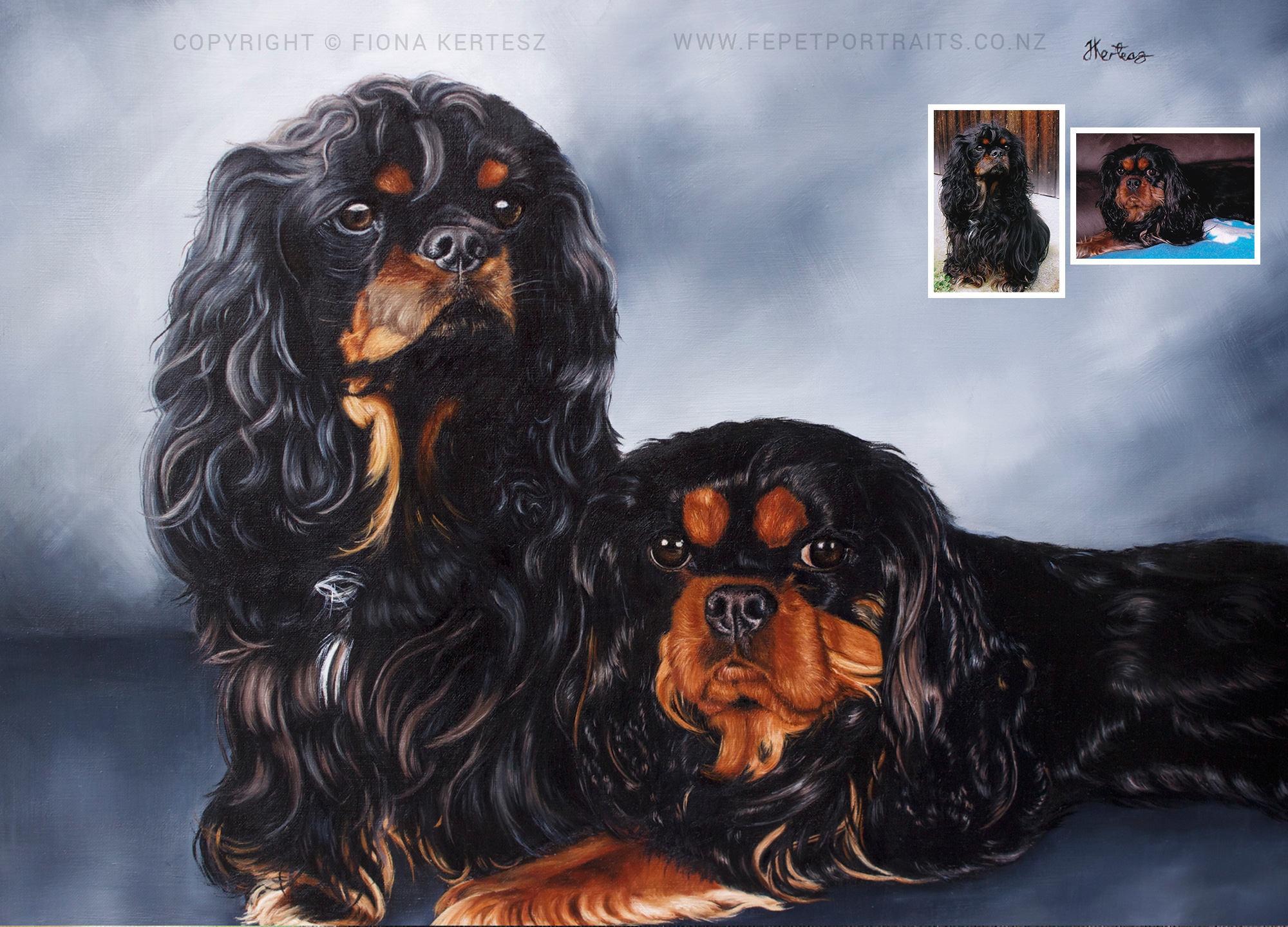 Basil and Millie, Oil on Linen, 18 x 14 inch