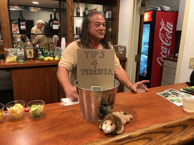 Lion Mel, spouse of Advisor Terri Komatsu, did a fabulous job of bar tending. He has been an invaluable volunteer for LCTP for many years.