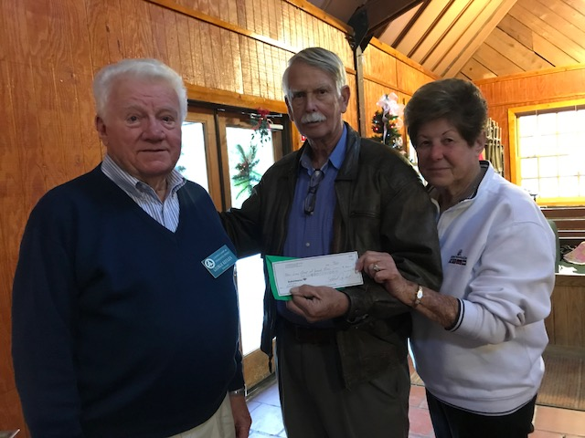Presentation of Check by Connie and George Keulen
