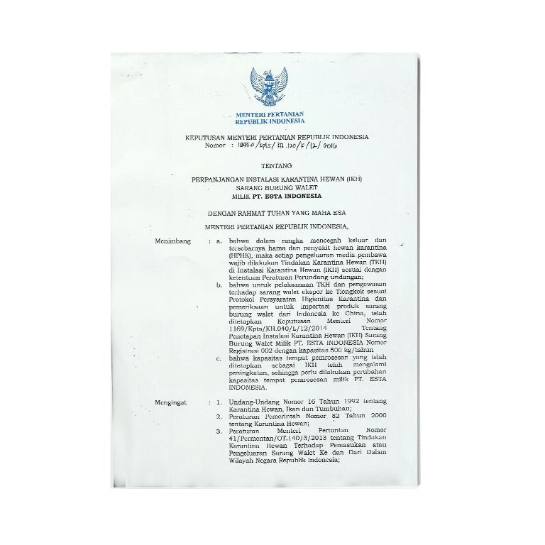 Esta Legal Esta Indonesia