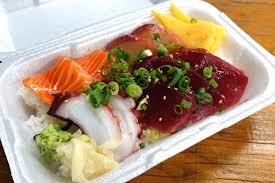 Maguro Brothers - No-frills fresh fish and poke counter in Kekaulike Market  https://www.yelp.com/biz/maguro-brothers-hawaii-honolulu-6