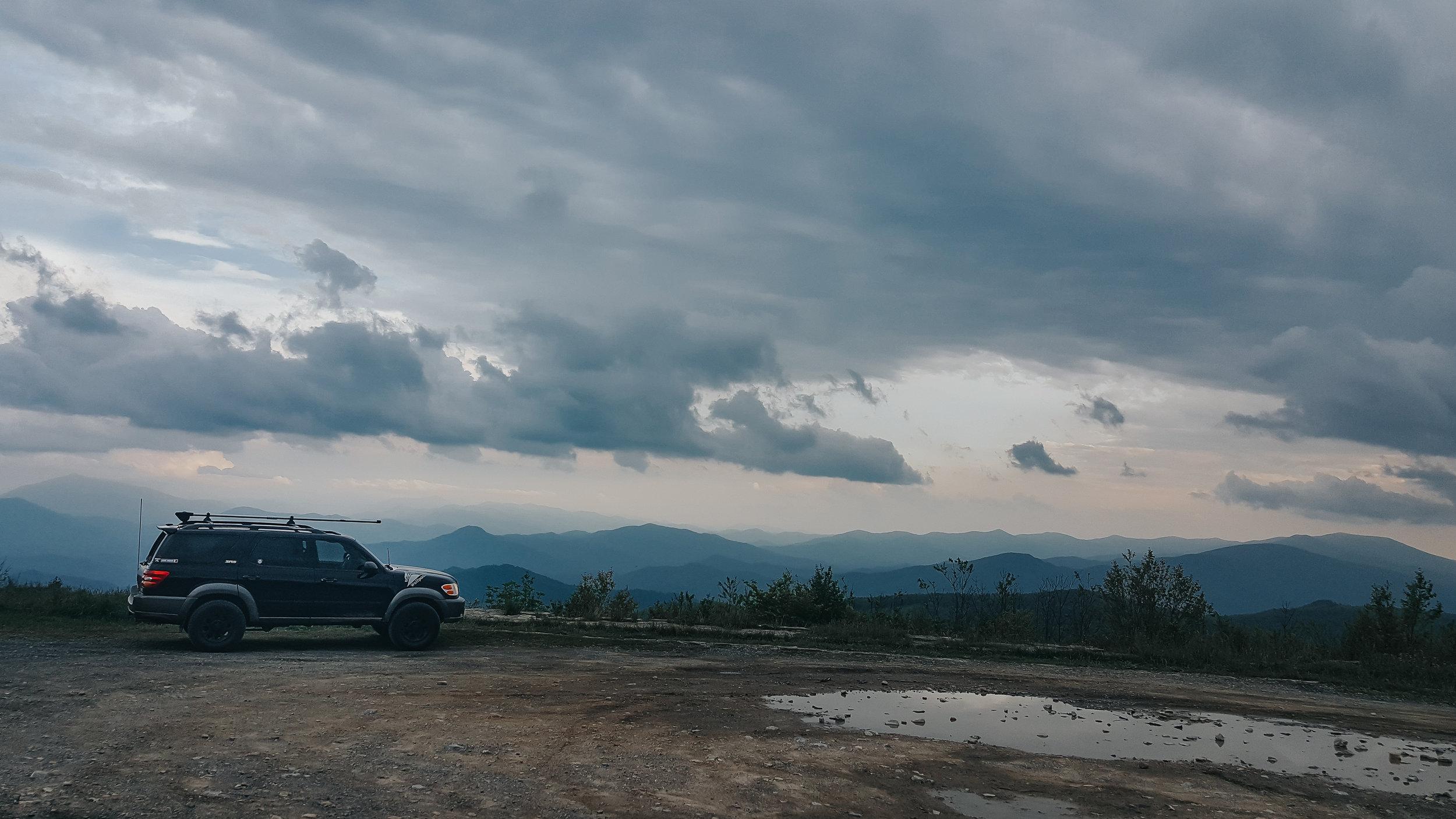 east tennesse- unaka mountain- wolfpack overland- sequioa- sunset- explore