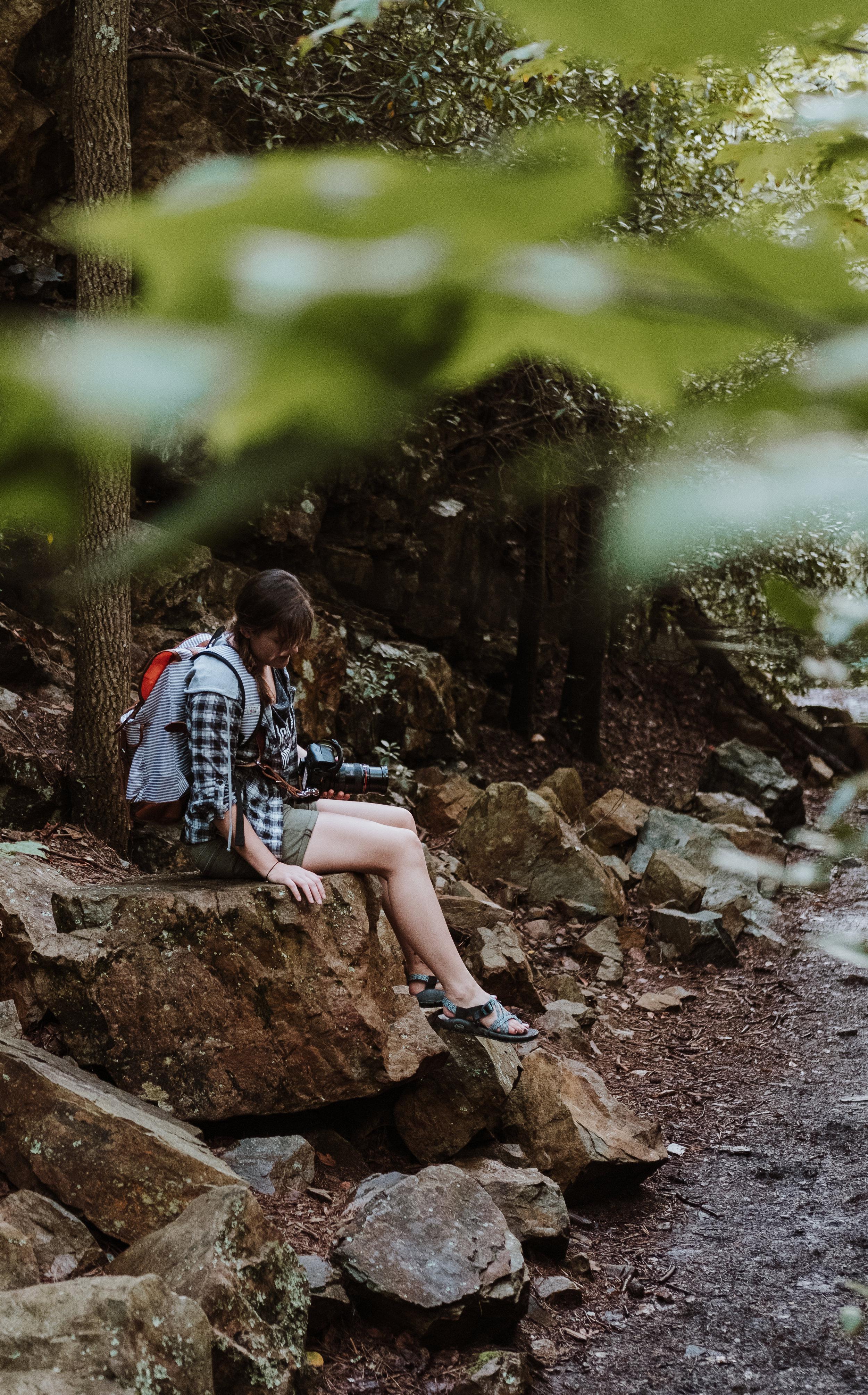 hiking- laurel falls- hampton tn- AT