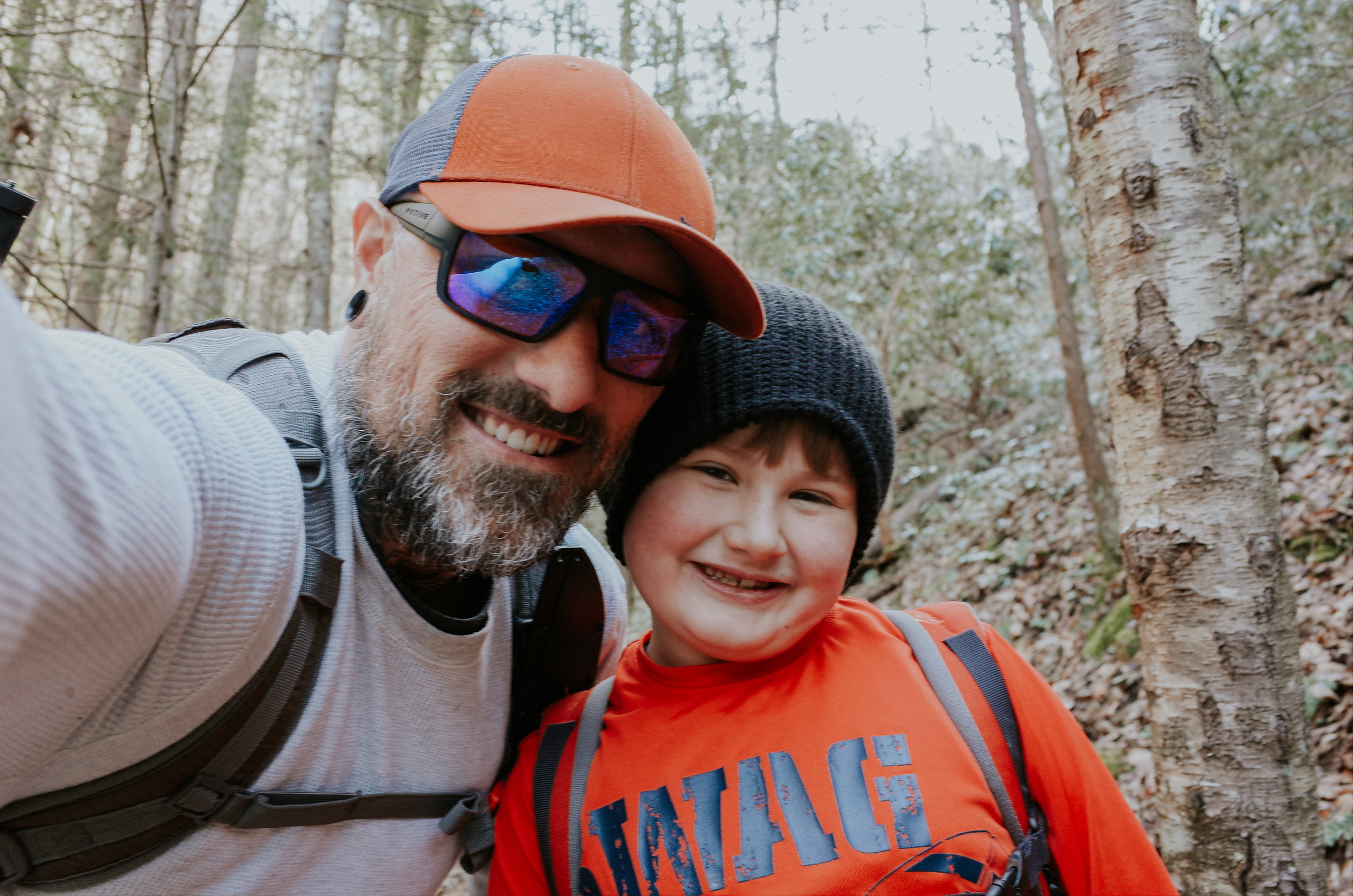 A rare selfie with my hiking buddy. Hes growing up to quickly.