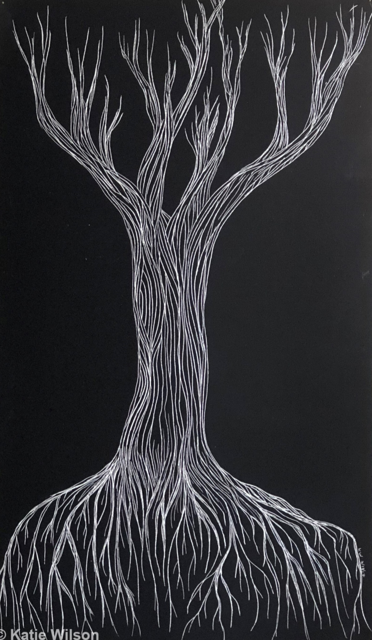 """First Tree, 2017 5"""" x 8.5"""" --- SOLD"""