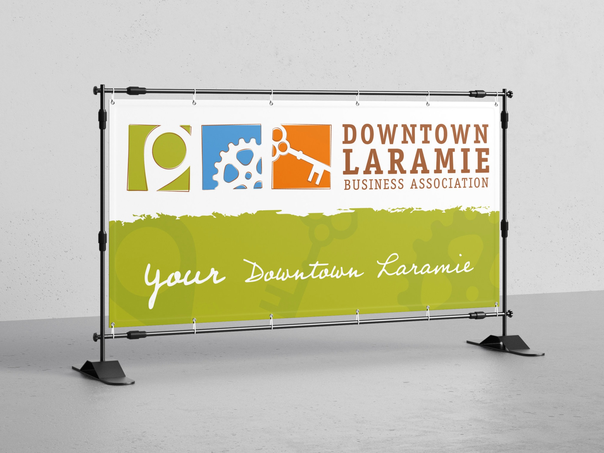 DOWNTOWN LARAMIE Logo concepting and design, promotional production