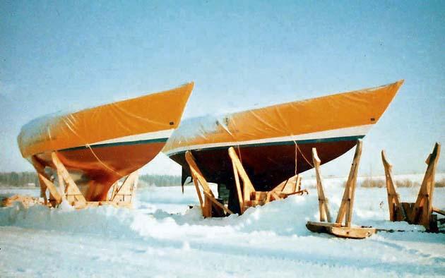 Nautor`s Swan Yard in Winter 1970s